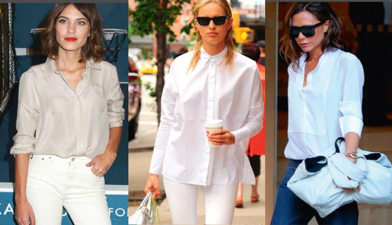 Camisas blancas, bellas elegantes para toda ocasión