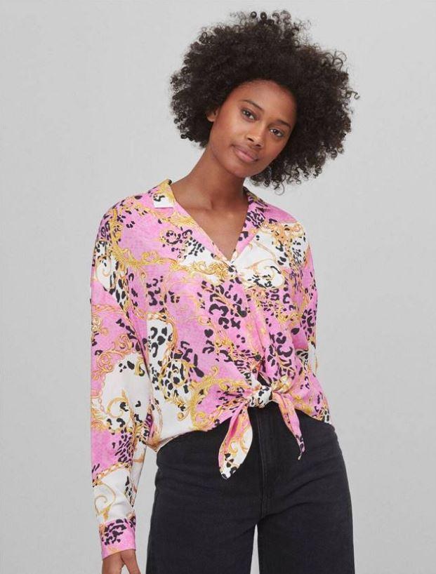 Camisa con estampado barroco