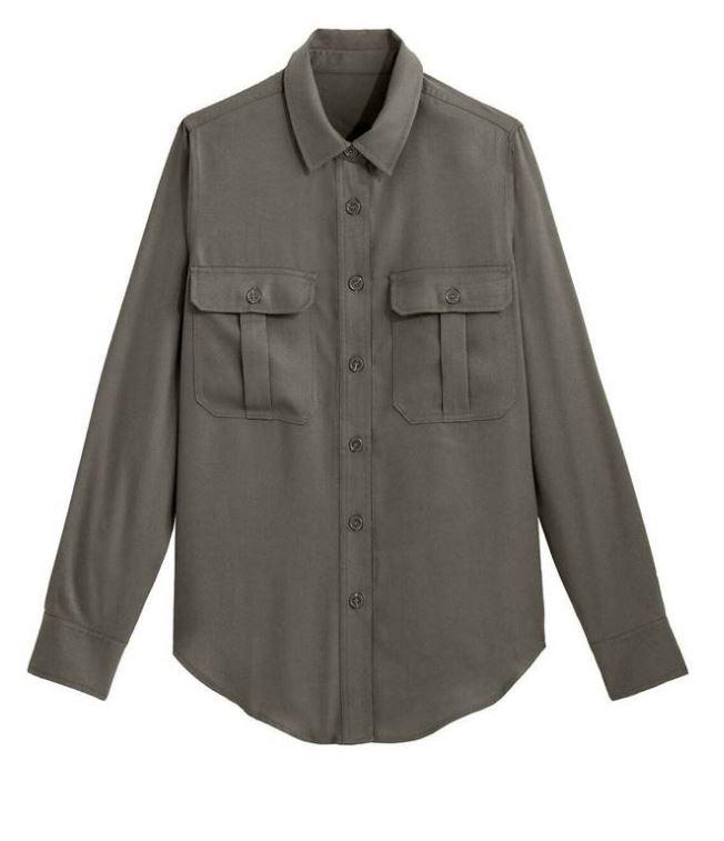 Camisa de estilo militar