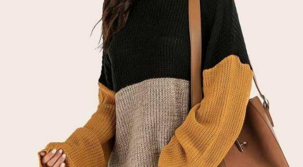 10 jerséis largos (y vestidos de punto) que quedan genial con leggings