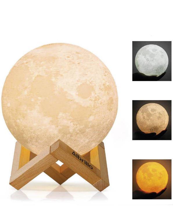 Lámpara en forma de luna