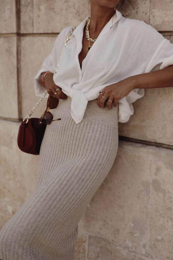 La falda de punto